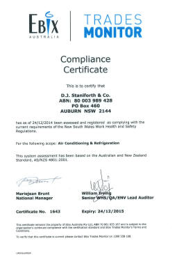 ComplianceCertificate